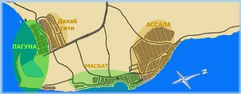 Районы города Дахаб