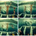 Виндсерфинг отдых - прыгаем в море!