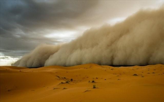 песчаная буря в Хургаде